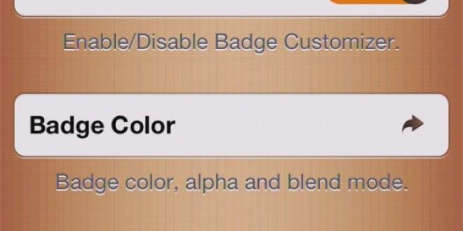 Cydia : Badge Customizer