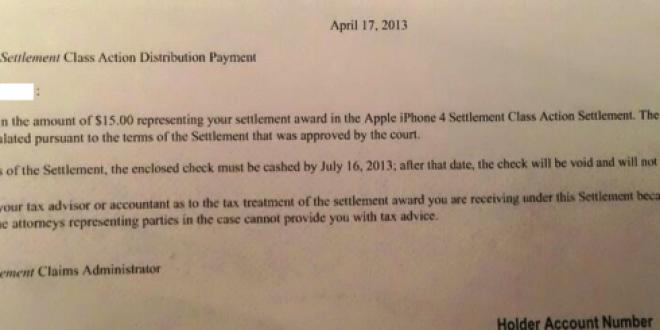 Apple compense financièrement les clients pour le problème d'antennage