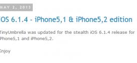 TinyUmbrella supporte désormais l'iOS 6.1.4