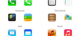 Comparaison des icônes iOS 6 et iOS 7