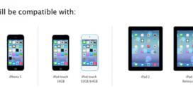 Appareils compatibles iOS 7 et OS X Mavericks