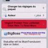 Cydia : TranslucentStatusBar for Safari