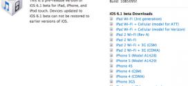 L'iOS 6.1 bêta 1 fait son apparition !