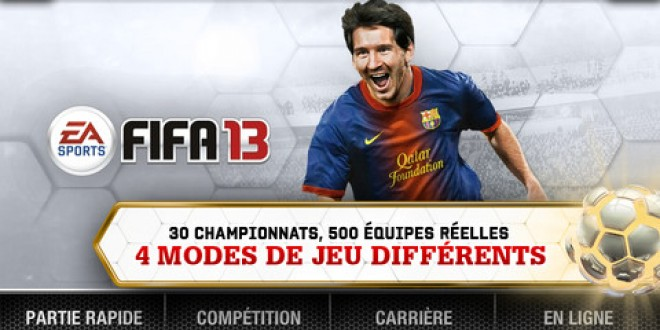 FIFA 2013 est disponible sur iOS
