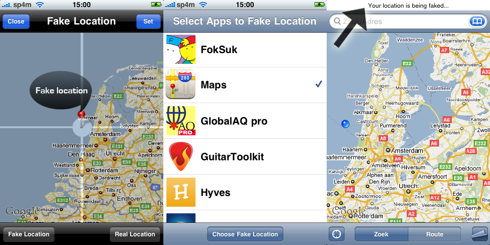 Applications Cydia : Fake Location 1 3 | iPhone Astuces – iPhone 5