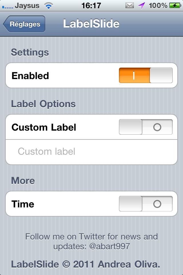 Как сделать надпись на в айфоне 4