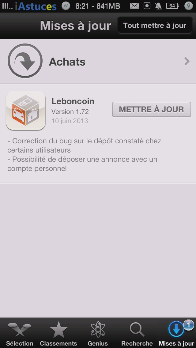 leboncoin ios affiche la version iphone astuces. Black Bedroom Furniture Sets. Home Design Ideas